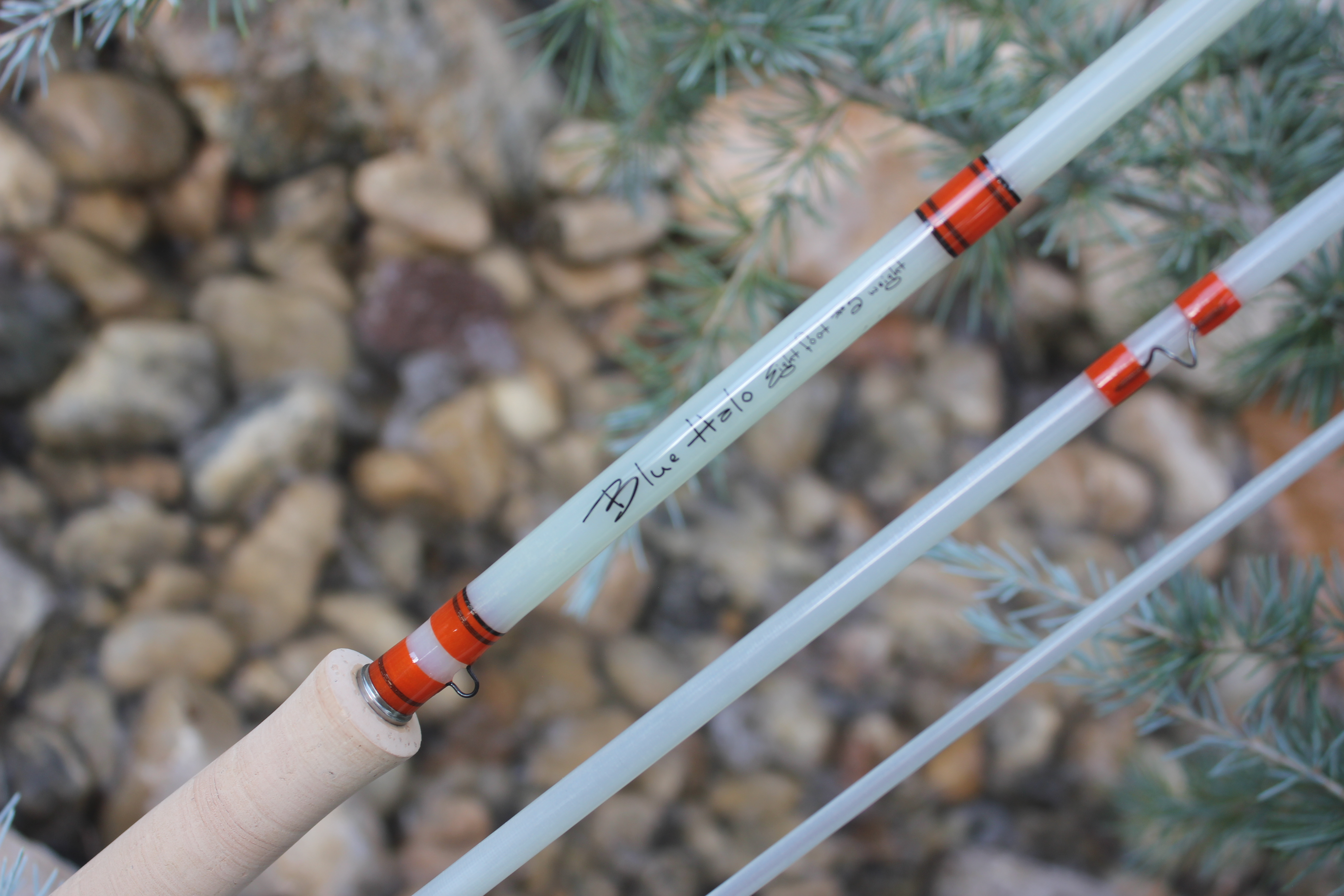Blue Halo Rod Sock and Tube Combo for Fiberglass Fly Rods